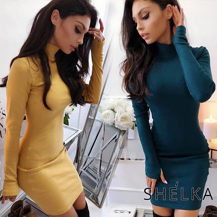 Нарядное платье-гольф sh-019 (42-50р, разные цвета), фото 2