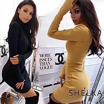 Короткое платье-гольф в рубчик sh-019 (42-50р, разные цвета), фото 2