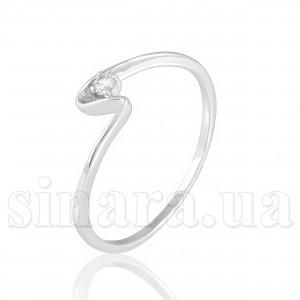 Кольцо из белого золота с цирконием 12090