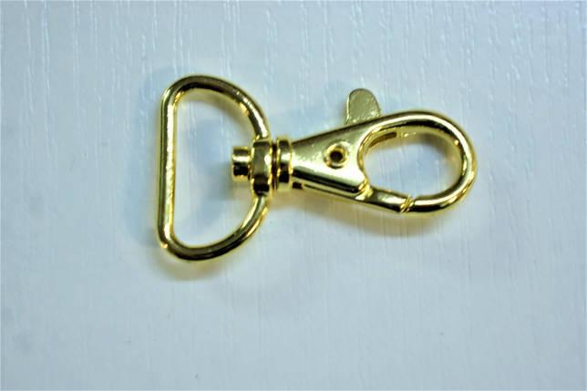 Карабін 5907 золото 20 мм., фото 2