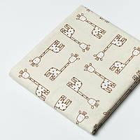 Ткань  Penned Pals Giraffes TAN
