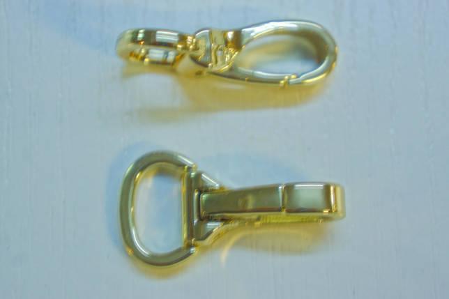 Карабін 5927 золото 15 мм., фото 2