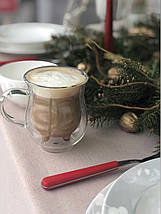 Комплект молочники чашки с двойным дном 2 шт 240 мл чашка для молока молочник двойные стенки, фото 3