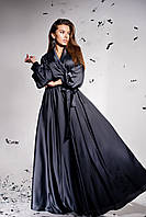 Элегантное вечернее платье на выпускной цвет: графитовый, размер: S, M, L, XL
