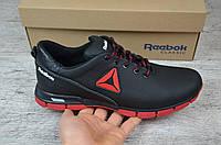 Мужские кожаные кроссовки Reebok на красной подошве