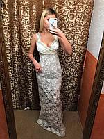 Свадебное платье гипюр
