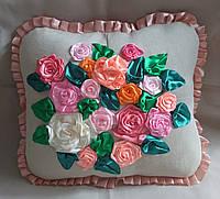 """Интерьерная подушка """"Розы1"""", фото 1"""