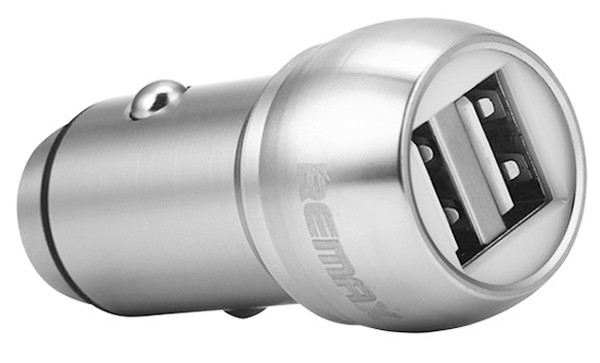 АЗУ REMAX Car Charger RC-C205 2USB/2,4A Silver, фото 1