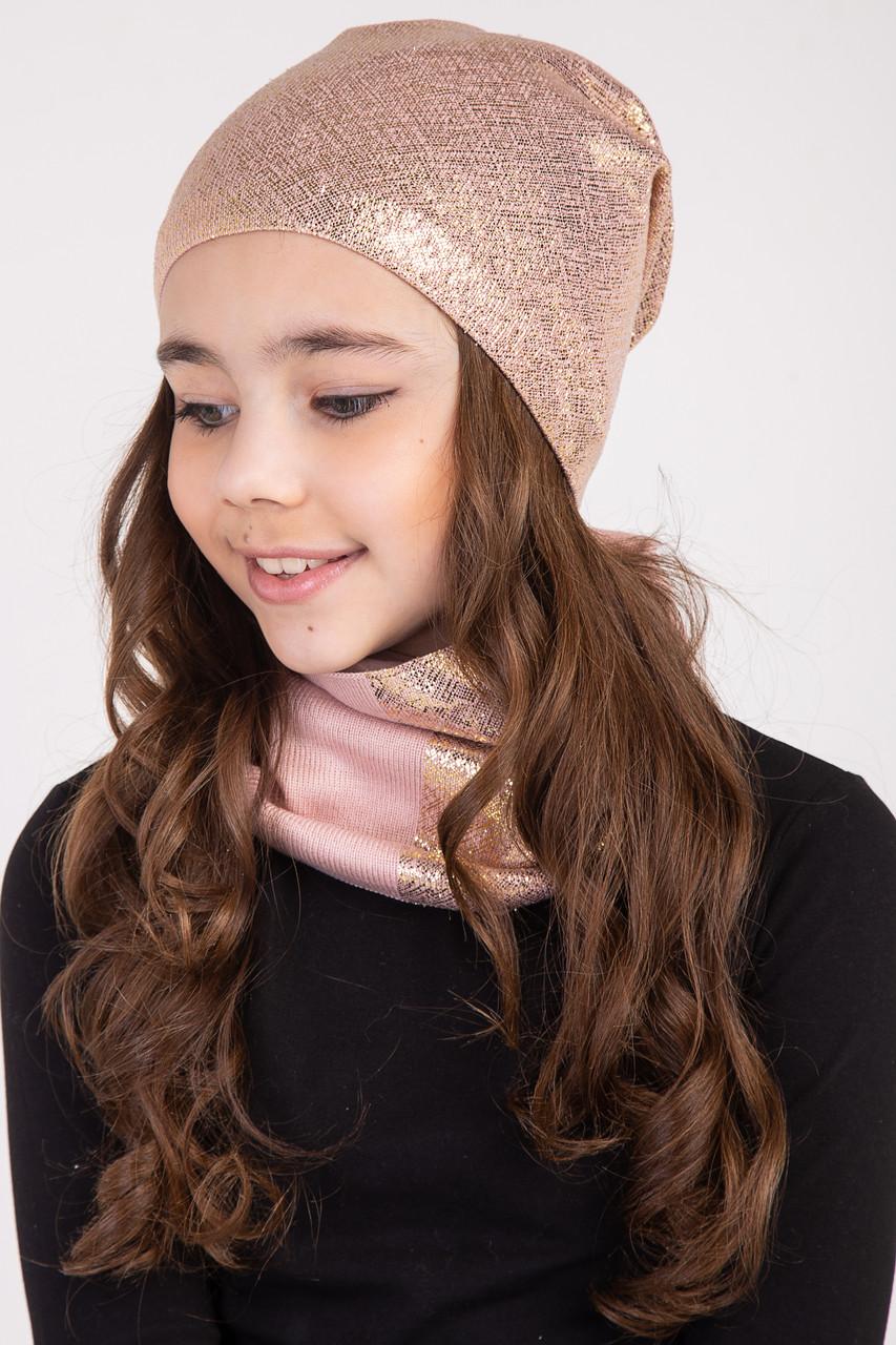 Модный комплект из хлопка для девочки на весну 2019 - Артикул 2416