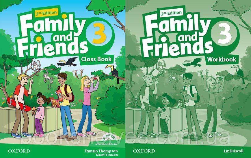Английский язык Комплект Family and Friends 2nd Second Edition 3 ClassBook + WorkBook