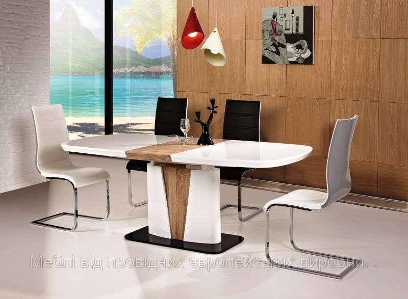 Раздвижной стол белый Cangas signal