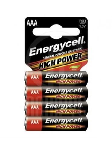Батарейки ААA солевые Energycell High Power R03 1.5V 4 шт
