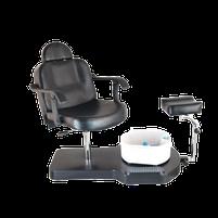 Кресло педикюрное ЮВА 6821bl чёрное, фото 2