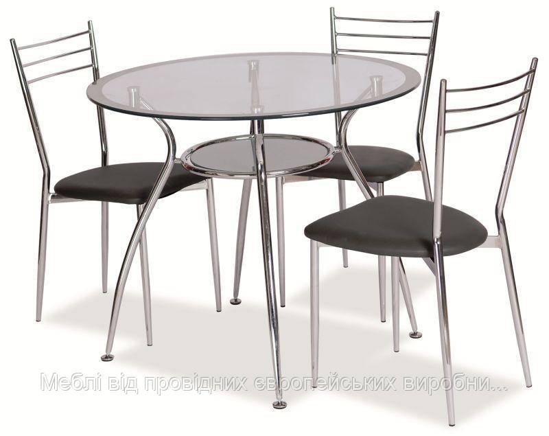 Finezja A стол стеклянный на кухню signal(в двух цветах)