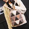 Женский рюкзак треугольники, фото 4
