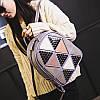 Женский рюкзак треугольники, фото 5