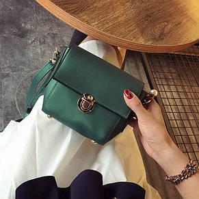 Жіноча сумочка клатч зелена 435, фото 2