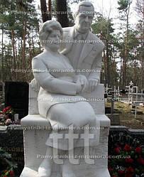 Семейная пара  скульптура из мрамора № 2
