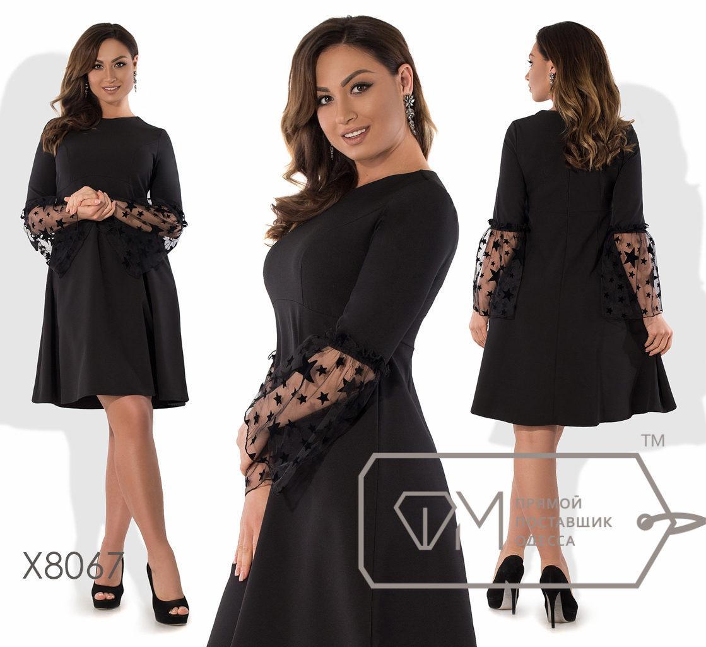 """Торжественное женское платье ткань """"Костюмная"""" 48 размер батал"""