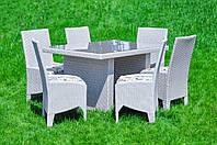 Комплект садовой мебели из ротанга Виконт White
