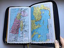 Библия Геце кожаная, цветные карты, фото 3