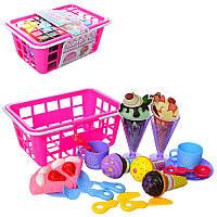 Продукты 6660-5, мороженое, посуда, в пласт.ящике, в карт.обер, 24-17-10см