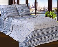 Двуспальное постельное белье бязь голд - ВЫШИВАНКА НА СЕРОМ