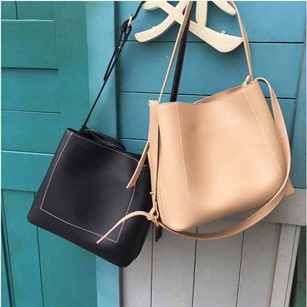 Женская сумка через плече черный, фото 2