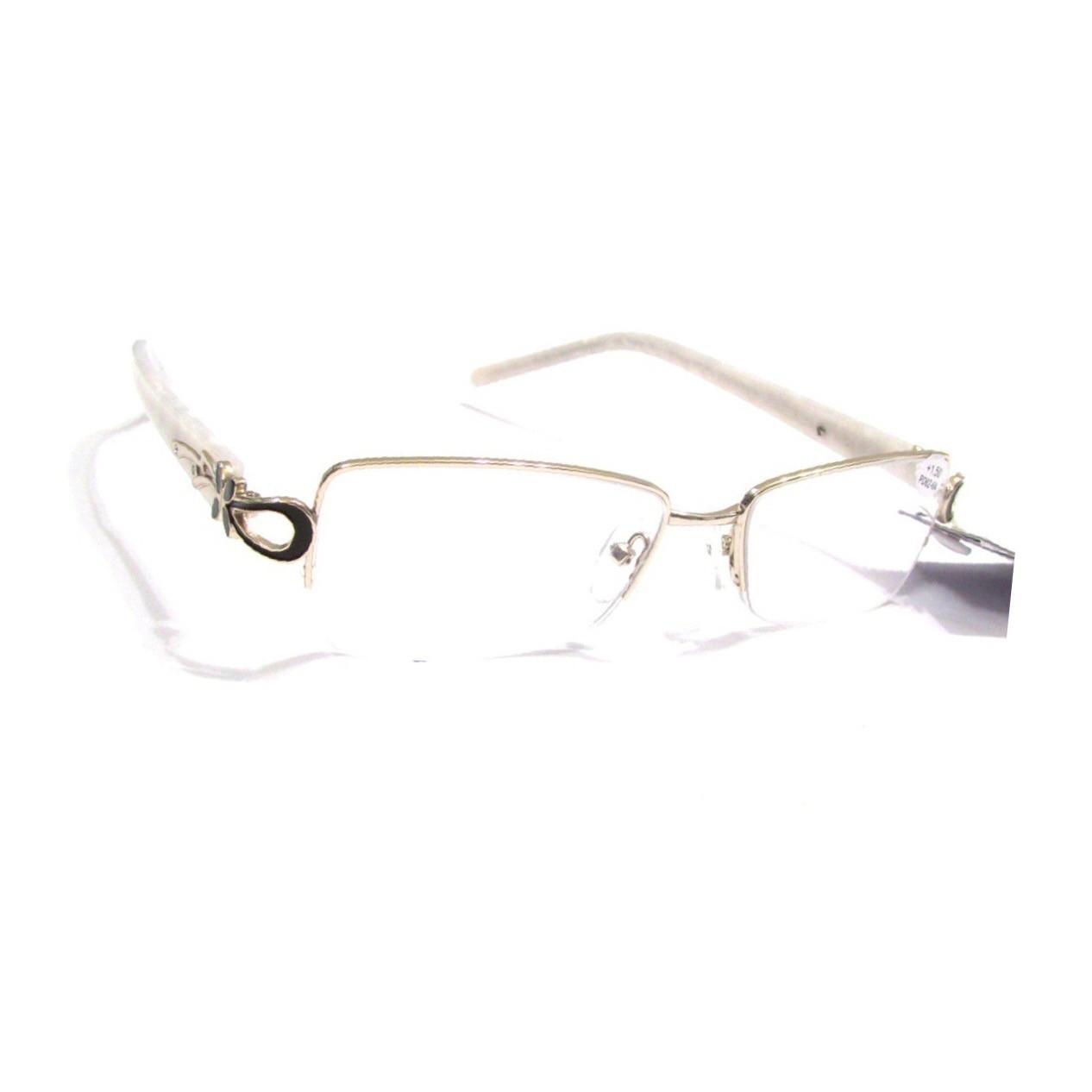 Женские очки с белой линзой