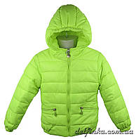 Куртка демисезонная для девочек 1310, р. 74-98, возраст 1-3 года, салатовый