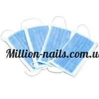Маска защитная на резинке для мастера маникюра, 50 штук в упаковке
