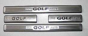 Volkswagen Golf 7 накладки порогов дверных проемов