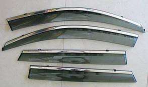 Kia Sorento XM 2009-2013  ветровики дефлекторы окон ASP с молдингом нержавеющей стали / sunvisors