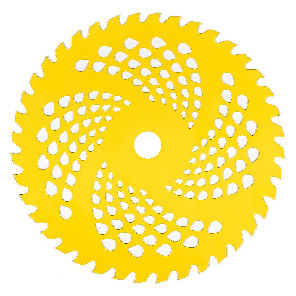 Нож к мотокосе 40-зубчатый из нержавеющей стали Vitals (желтый)