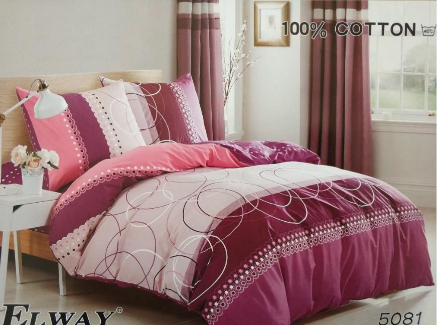 Сатиновое постельное белье семейное ELWAY 5081