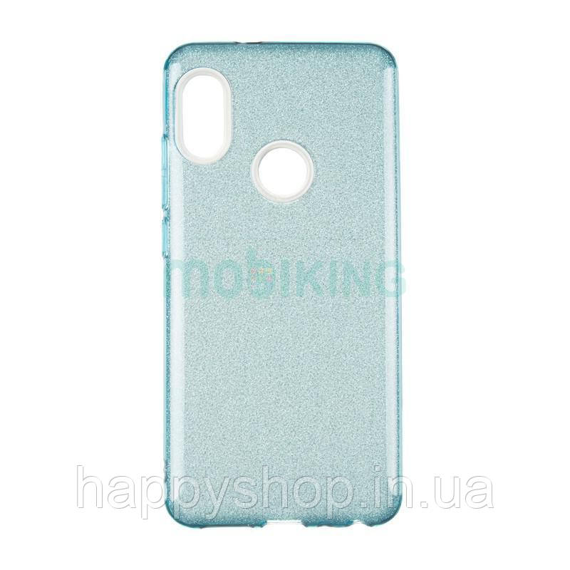 Чехол-накладка Remax с блестками для Samsung Galaxy J4 2018 (J400) Blue