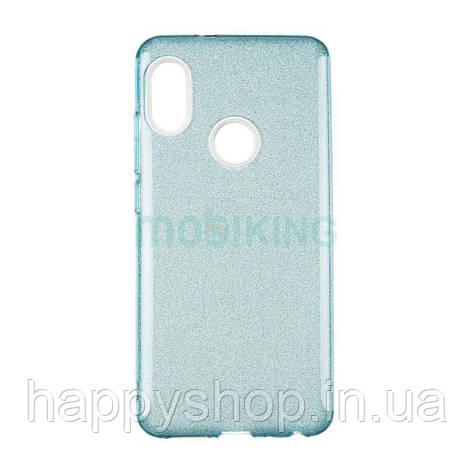 Чехол-накладка Remax с блестками для Samsung Galaxy J4 2018 (J400) Blue, фото 2