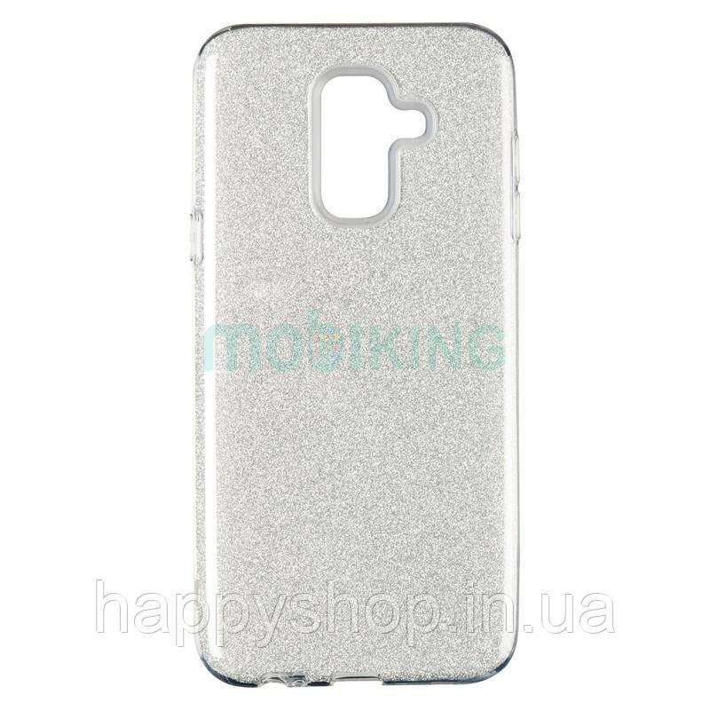 Чехол-накладка Remax с блестками для Samsung Galaxy J4 2018 (J400) Silver