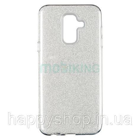 Чехол-накладка Remax с блестками для Samsung Galaxy J4 2018 (J400) Silver, фото 2