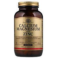 Кальций, магний, цинк, Solgar, Calcium Magnesium with Zinc, 250 таблеток