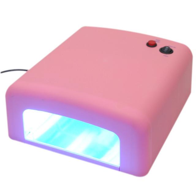 УФ лампи лампа для манікюру Beauty Nail lamp SK 818, 36W рожева
