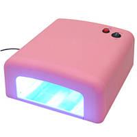 УФ лампи лампа для манікюру Beauty Nail lamp SK 818, 36W рожева, фото 1
