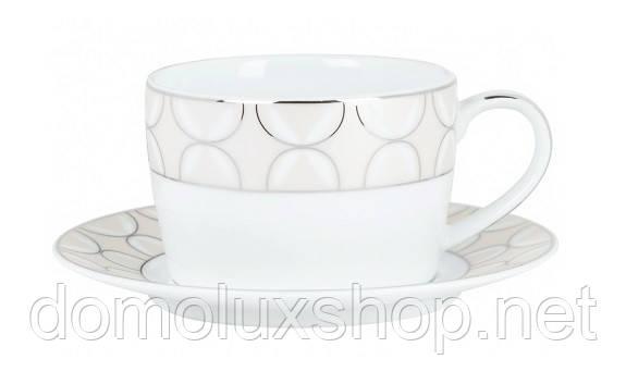DPL Bowtie Чашка для завтрака 360 мл + блюдце (003181)