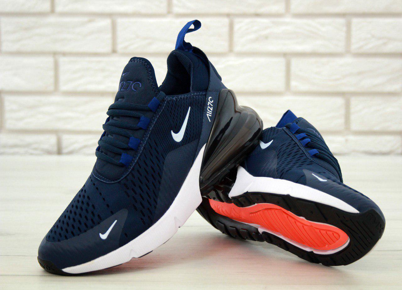 8b2ba139 Кроссовки мужские Nike Air Max 270 Blue/White (Реплика ААА класса), цена 1  390 грн., купить Київ — Prom.ua (ID#901393961)