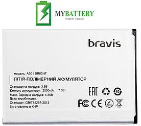 Оригинальный аккумулятор АКБ (Батарея) для Bravis A501 Bright 2000 mAh 3.8V