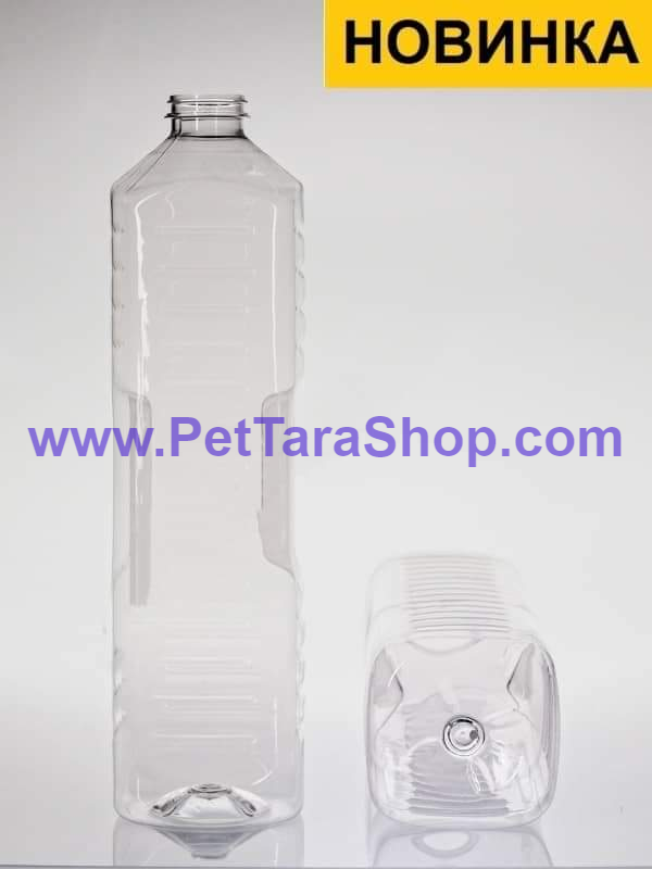 Квадратна пляшка ПЕТ під масло 1,8 л з кришкою