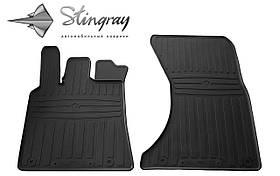 Передние резиновые коврики Porsche MACAN 2014- (2 шт) Stingray 1052022
