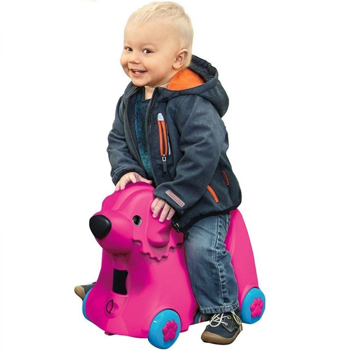 Детский чемодан на колесиках BIG Bobby Trolley малиновый 0055353