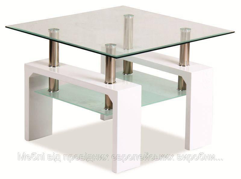 Журнальный столик Lisa D Basic стеклянный SIGNAL (два цвета)