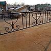 Оградка на кладбище кованая арт.рт16